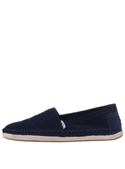 Tmavě modré kožené pánské loafers TOMS Alpargatas