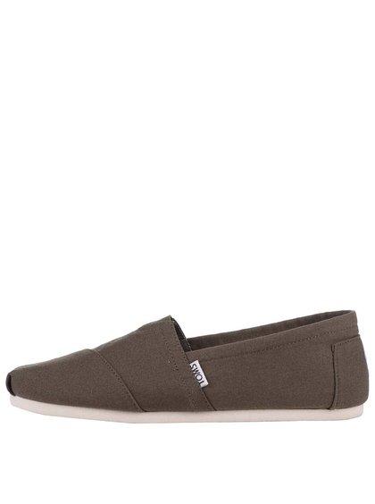 Olivové pánske loafers TOMS Alpargatas