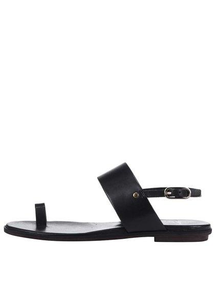 Čierne kožené sandále Vagabond Natalia