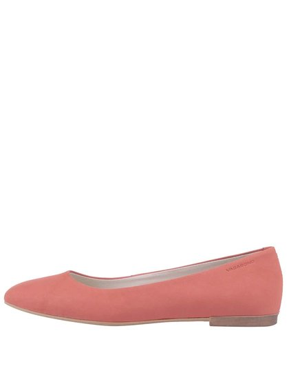 Růžové kožené baleríny Vagabond Ayden