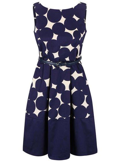 Rochie albastră Closet cu model geometric crem