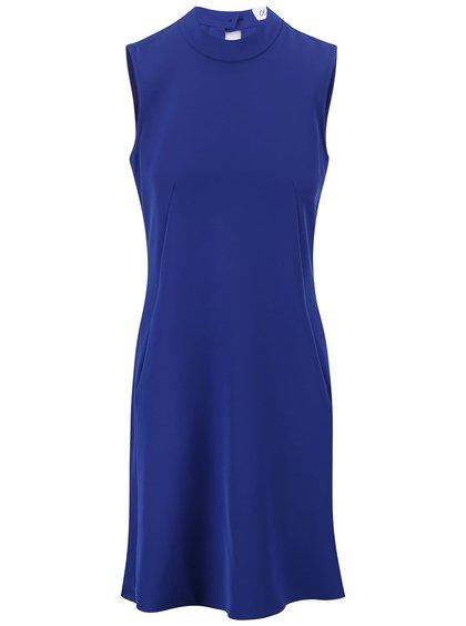 Modré šaty so stojačikom Closet