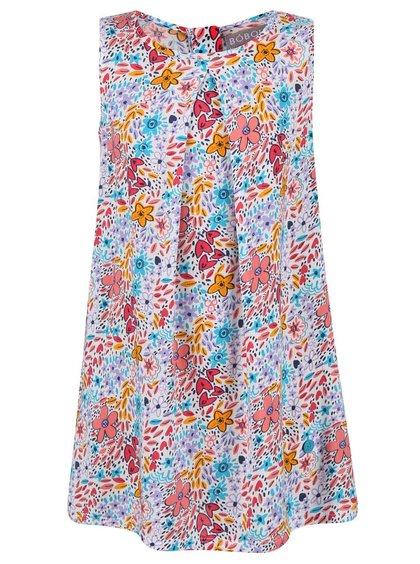 Bílé holčičí šaty s květinovým potiskem Bóboli