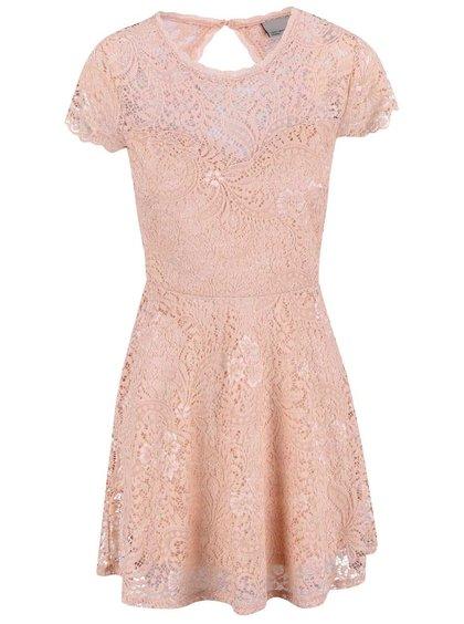 Rochie Vero Moda Celeb roz pal cu dantelă