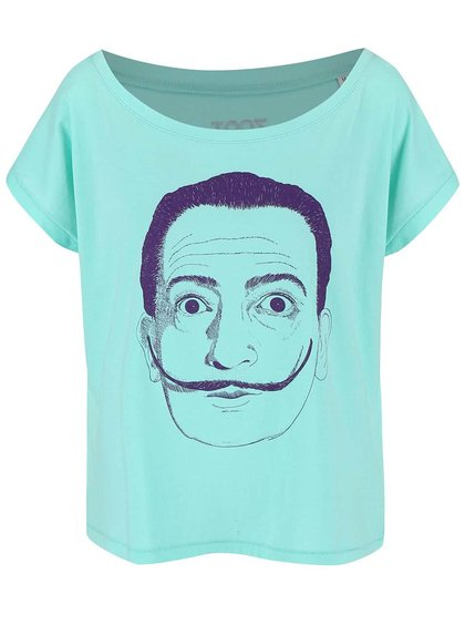 Mentolové dámské volnější tričko ZOOT Originál Dalí
