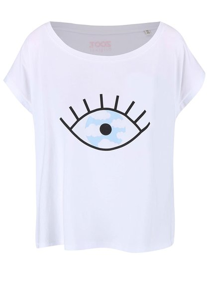 Biele dámske voľnejšie tričko ZOOT Originál Falošné Zrkadlo