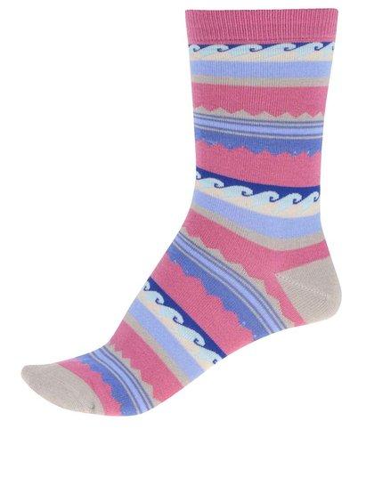 Ružové dámske bambusové ponožky so vzormi Braintree Surfer