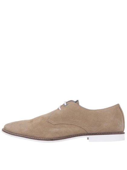 Pantofi din piele Pepe Jeans Belmont crem