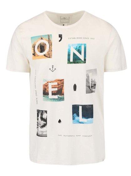 Krémové pánske tričko s potlačou O'Neill Neos