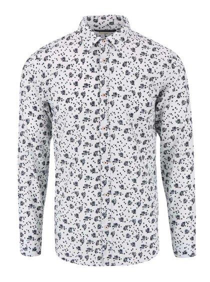 Bílá vzorovaná košile Jack & Jones Willis