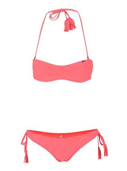 Neonově růžové plavky O'Neill Solid Bandeau