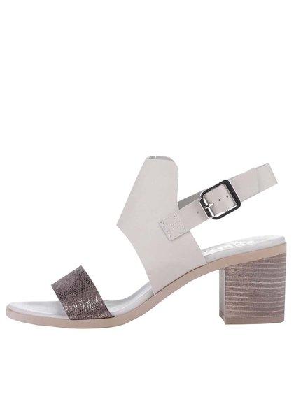Sivé sandále s trblietavým remienkom Bullboxer