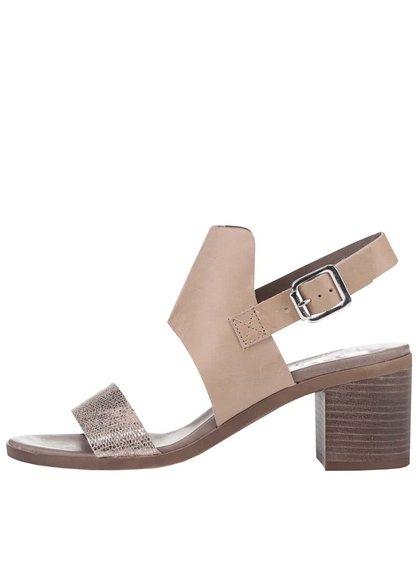 Hnedé sandále s trblietavým pásikom Bullboxer
