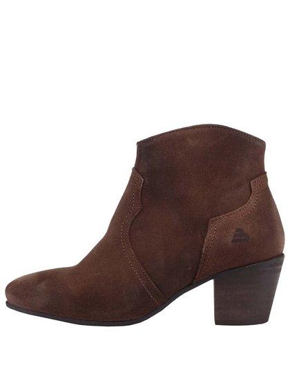 Hnědé dámské semišové boty Bullboxer