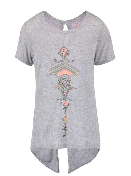 Tricou Roxy gri cu model