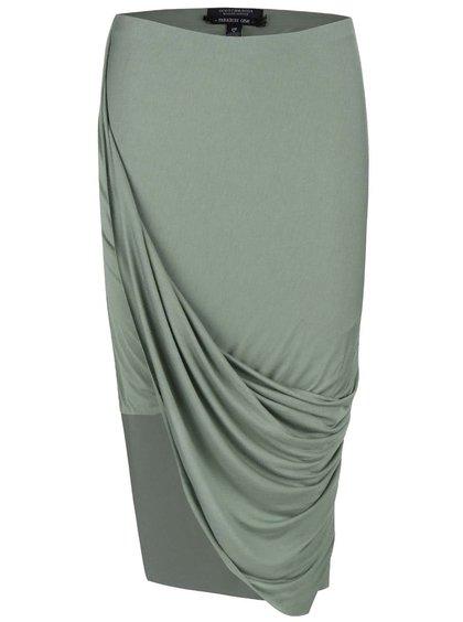 Zelená asymetrická sukně Maison Scotch