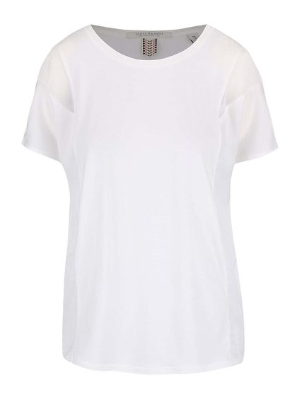 Tricou Maison Scotch alb