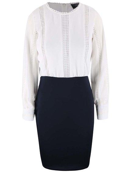 Bílo-modré šaty s pleteným topem AX Paris