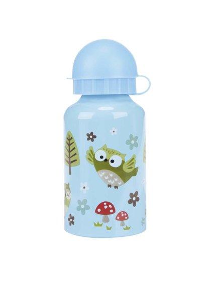 Modrá fľaša so sovičkami Sass & Belle Spring Forest