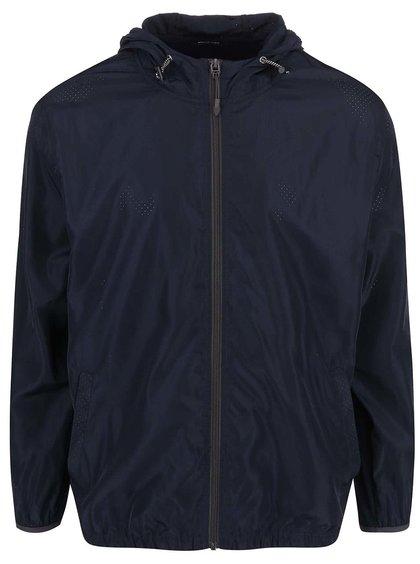 Tmavě modrá šusťáková bunda s kapucí ONLY & SONS Michael
