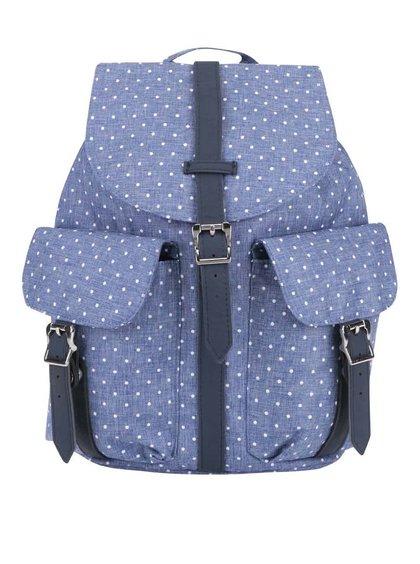 Modrý dámsky batoh s bodkami Herschel Dawson