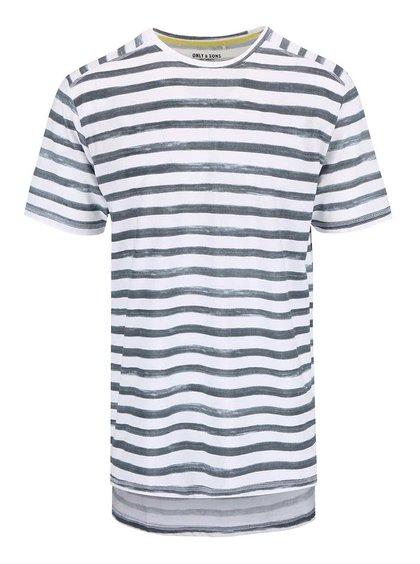 Bielo-modré pruhované tričko ONLY & SONS Seth