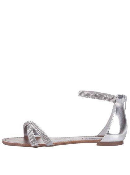 Dámske sandálky v striebornej farbe Steve Madden Zippey