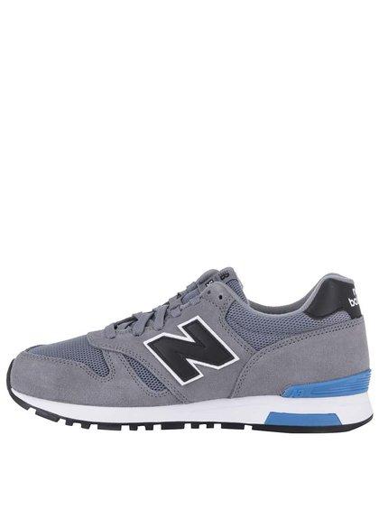 Šedé pánské tenisky s modrým pruhem na patě New Balance