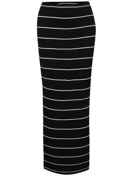 Čierno-biela pruhovaná sukňa s rozparkami ONLY Abbie