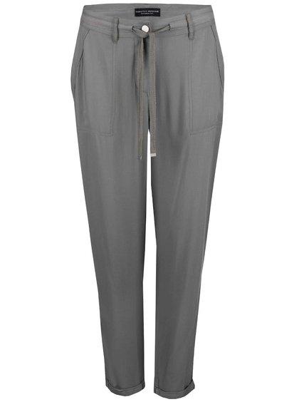 Khaki volnější kalhoty Dorothy Perkins