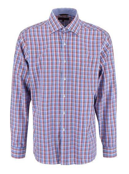 Červeno-modrá kostkovaná košile Seven Seas Broadway