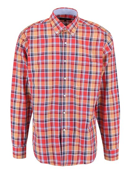 Červeno-modrá kostkovaná košile Seven Seas