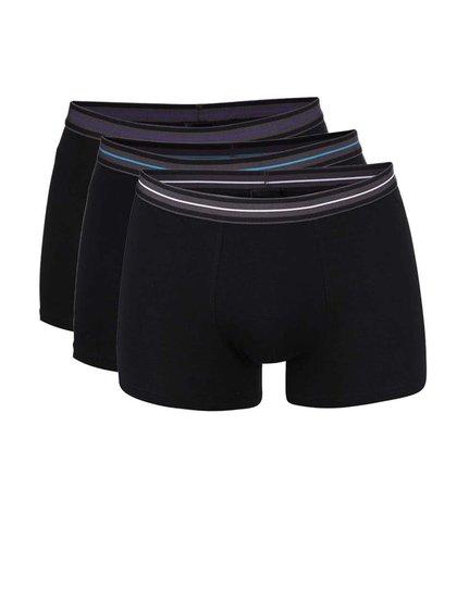 Súbor troch boxeriek v čiernej farbe Marginal