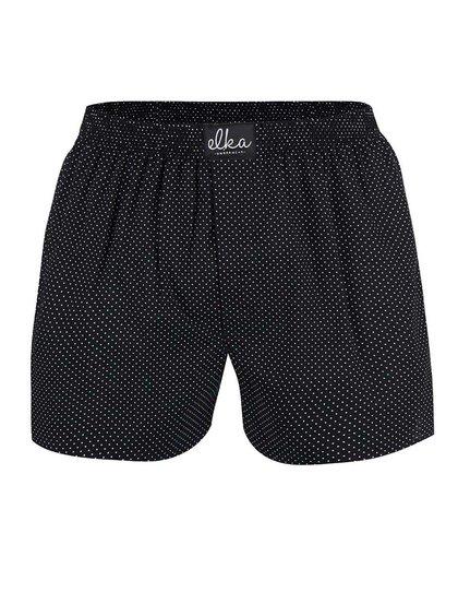 Černé pánské trenýrky s tečkami El.Ka Underwear