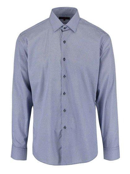 Modrá košeľa s jemným vzorom Seven Seas
