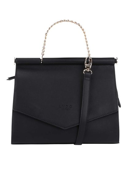 Černá menší kabelka s detaily ve zlaté barvě LYDC