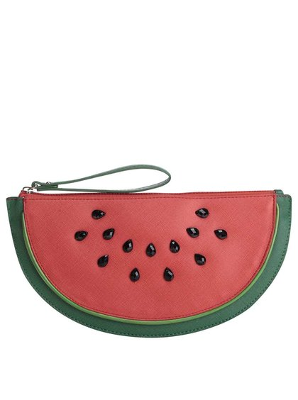 Červená listová kabelka v tvare melóna Anna Smith