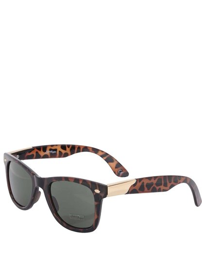Hnědé dámské sluneční brýle s gepardím vzorem Jeepers Peepers Winston