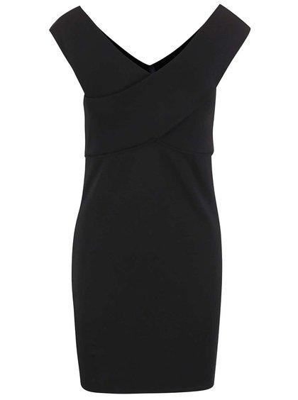 Černé šaty s lodičkovým výstřihem ONLY Daria