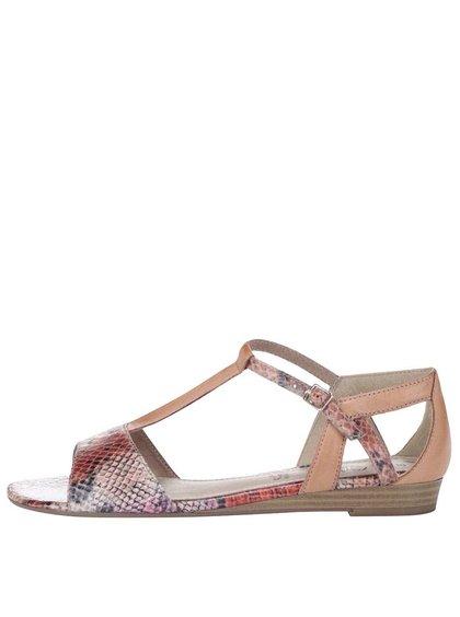 Sandale s.Oliver colorate, din piele