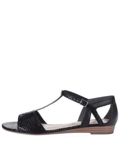 Čierne sandále s remienkom cez priehlavok s.Oliver