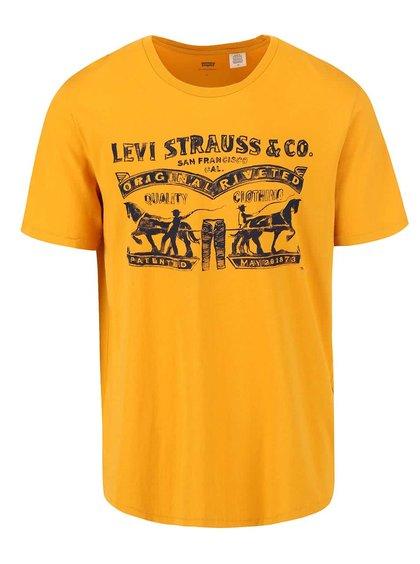 Tricou bărbați galben printat Levi's®