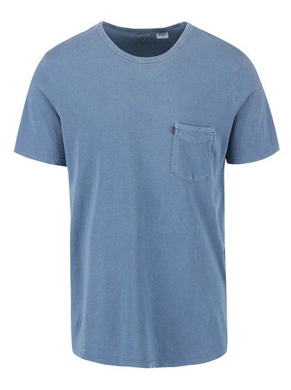 Tricou bărbătesc albastru deschis cu buzunar Levi's®