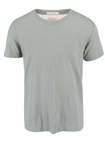 Zelené vzorované triko Selected Luke