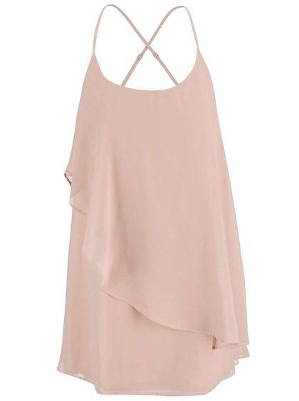 Rochie mini VERO MODA Miva roz deschis cu bretele subțiri