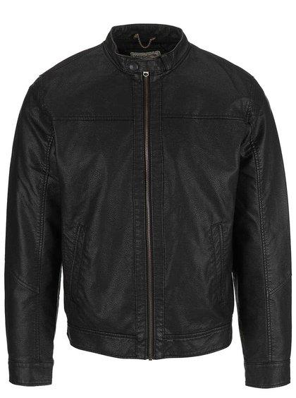 Čierna koženková bunda Jack & Jones Insert