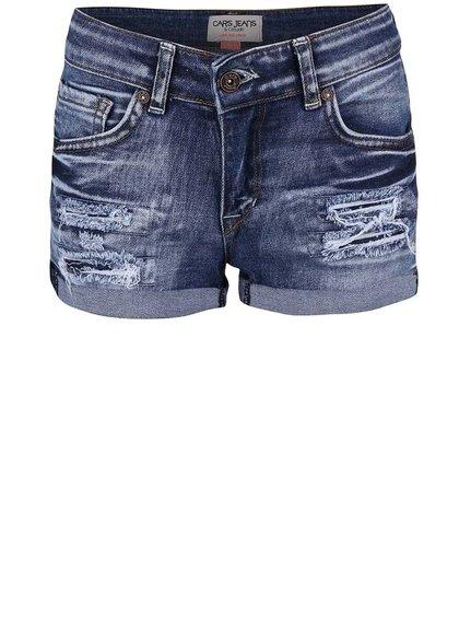 Modré dievčenské rifľové kraťasy Cars Jeans Sara