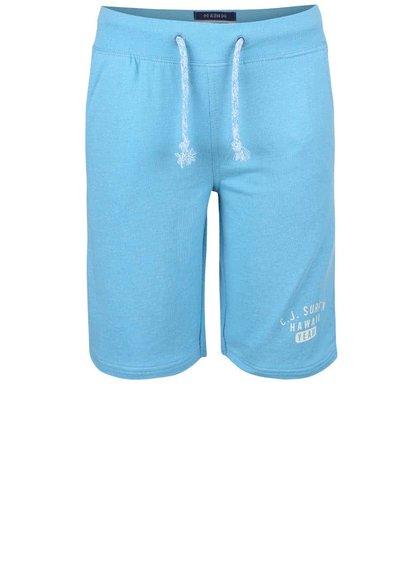 Světle modré klučičí teplákové kraťasy Cars Jeans Senio