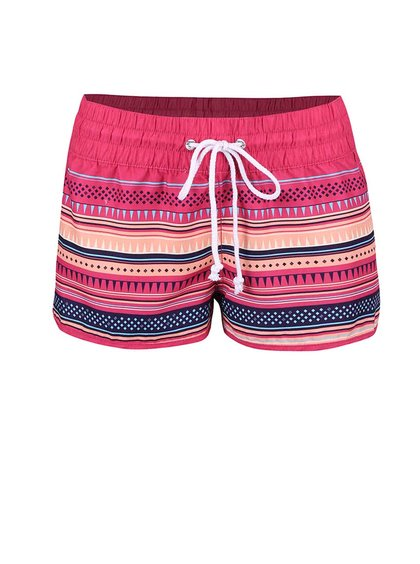 Pantaloni scurți Horsefeathers Naise roz cu dungi