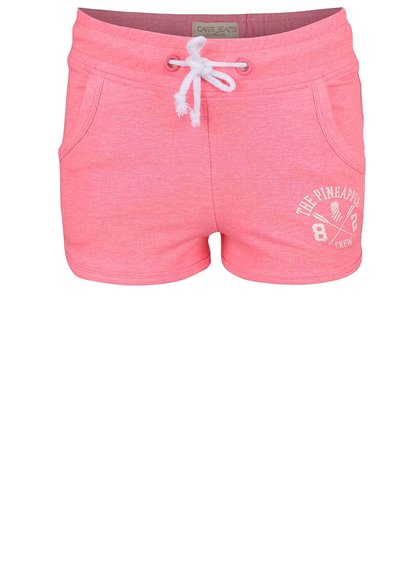 Neónovoružové dievčenské kraťasy Cars Jeans Shorty